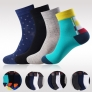 colorful patchwork color breathable men's ankle cotton