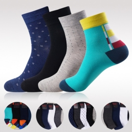 colorful patchwork color breathable men's ankle cotton socks