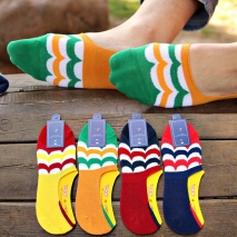 summer fish tail pattern silicone footed men's slipper socks