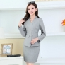 HangZhou design collarless women business suits  office uniform