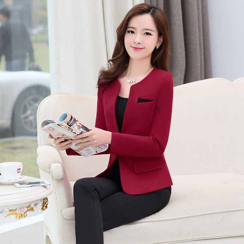 Hangzhou Made Collarless Women Suits Office Wear Tianex