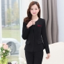 winter wool V-collar women pant suits