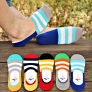 casual candy stripes anti creep man sock slipper