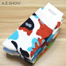 camouflage print ankle socks for man