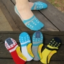 new anticreep five-pointed star print socks summer thin cotton invisible men's socks slippers