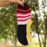Korea pure cotton 3 stripes anticreep man slipper socks