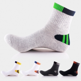 patchwork fashion cotton young men socks
