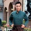blackish green menautumn Thailand vintage half sleeve waiter waitress shirts  Waiter 101