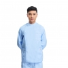 blue(long coat)right side opening male dentist long sleeve uniform jacket suityou