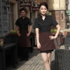 black womenfashion France style KTV KFC restaurant waiter uniform