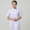 Whiteshort sleeve side open nurse coat