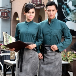 autumn Thailand vintage half sleeve waiter waitress shirts  Waiter 101