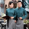 autumn Thailand vintage half sleeve waiter waitress shirts and apron