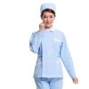 light blue coatfashion design long sleeve nurse blouse + pant uniform