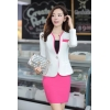 Whiteadministrative staff secretary OL women career work uniform