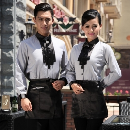fashion casual Korea shop clerk uniform,shirt for waiter work wear