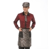 men wineupgrade satin like fabric waiter uniform shirts apron