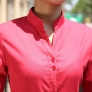 long sleeve waiter waitress band collar shirt uniform