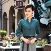 women blackish greencoffee food service restaurants staff uniform workwear waiter
