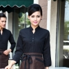 women blackcoffee food service restaurants staff uniform workwear waiter