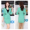 Light Greencandy colors hotel office desktop staff uniform skirt suits work wear for women