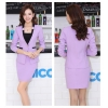 Violetcandy colors hotel office desktop staff uniform skirt suits work wear for women