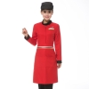 women redlong sleeve Asian design hotel bar waiter waitress uniform