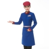 women bluelong sleeve Asian design hotel bar waiter waitress uniform