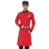 men redlong sleeve Asian design hotel bar waiter waitress uniform
