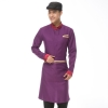 men purplelong sleeve Asian design hotel bar waiter waitress uniform