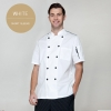 white short sleevefashion Europe America design short/ long sleeve stand collar men cook coat chef uniform