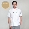 white(hem) short sleeveEurope America design short/ long sleeve unisex cook coat chef uniform