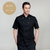 black short sleevefashion Europe America design short/ long sleeve stand collar men cook coat chef uniform