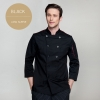 black long sleevefashion Europe America design short/ long sleeve stand collar men cook coat chef uniform