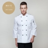 white long sleevefashion Europe America design short/ long sleeve stand collar men cook coat chef uniform