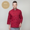 wine long sleeveEurope America design short/ long sleeve unisex cook coat chef uniform
