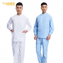 right side opening male dentist long sleeve uniform jacket suityou
