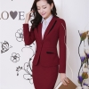 wine skirt suitsprofession design secretary office lady skirt suits uniform BLKE 1506
