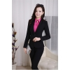 black pant suitsprofession design secretary office lady skirt suits uniform BLKE 1506