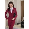 wine pant suitsprofession design secretary office lady skirt suits uniform BLKE 1506