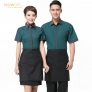 summer design coffee house waiter (shirt apron) uniform set
