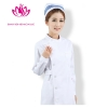 Whitelong sleeve round collar high quality female nurse coat uniform