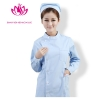 Light Bluelong sleeve round collar high quality female nurse coat uniform