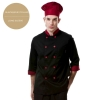 long sleeve wine(black collar)professional design double breasted coat uniform restaurant men women chef