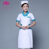 white green collar short sleevepedal collar long sleeve medical care uniform nurse coat drugstore coverall