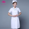 white green hem short sleevepedal collar long sleeve medical care uniform nurse coat drugstore coverall
