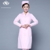 pink long sleevefashion medical care health center nurse coat hospital uniform