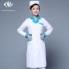 white green collar long sleevefashion medical care health center nurse coat hospital uniform