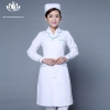 white green hem long sleevepedal collar long sleeve medical care uniform nurse coat drugstore coverall