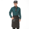 men blackish greenEurope restaurants coffee bar waiter waitress uniform wholesale